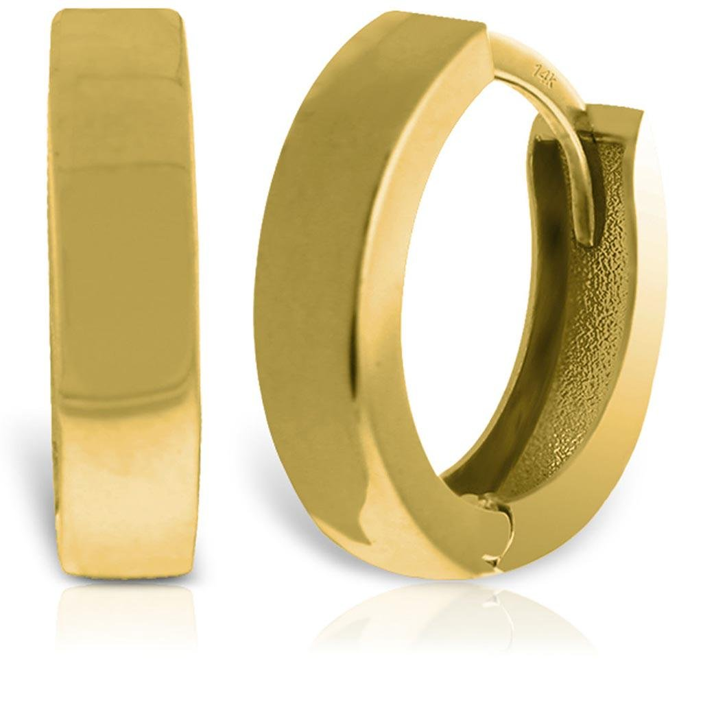 14K Solid Gold Glorietta Huggie Earrings