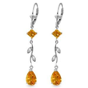 3.97 Carat 14K Solid White Gold Chandelier Earrings Dia
