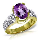 32 Carat 14K Solid Gold True Partnership Amethyst Diam