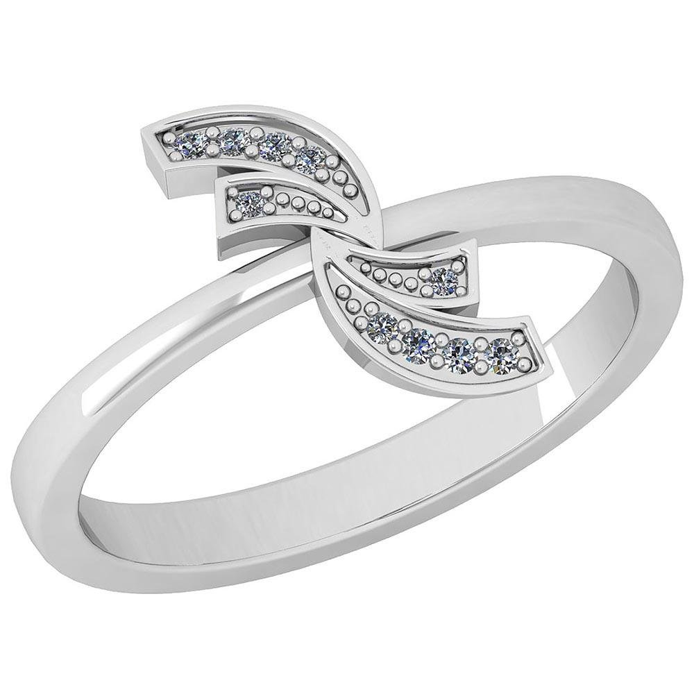 Certified 0.03 Ctw Diamond VS/SI1 14K White Gold Ring