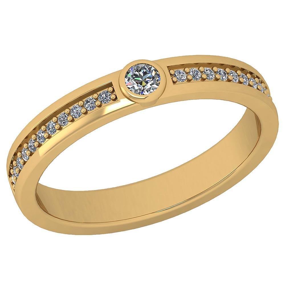 Certified 0.19 Ctw Diamond VS/SI1 Anniversary Ring 14K
