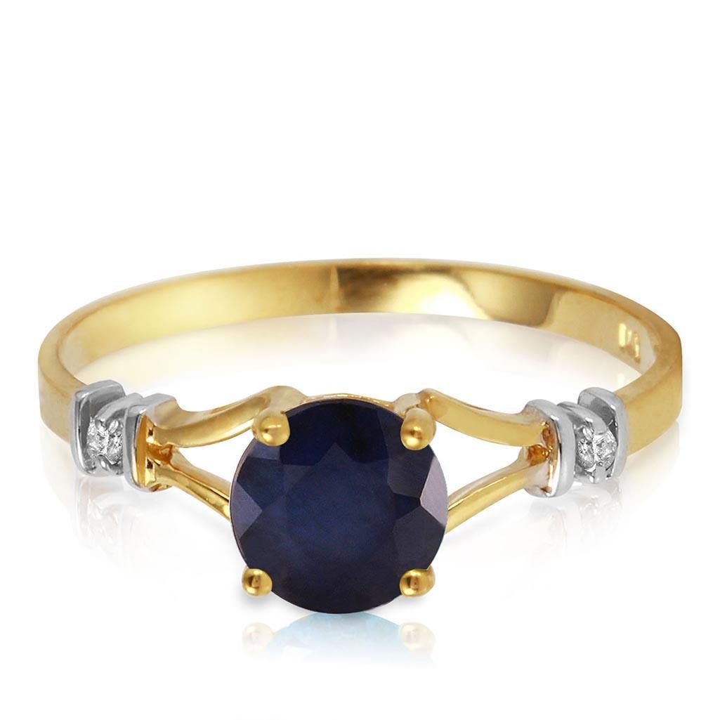 1.02 Carat 14K Solid Gold Purge Your Soul Sapphire Diam