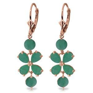 5.32 CTW 14K Solid Rose Gold Chandelier Earrings Natura