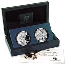 American Silver Eagle 2 Coin 2012 San Francisco Proof S
