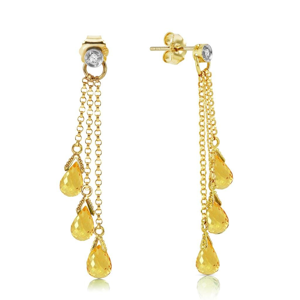 7.38 Carat 14K Solid Gold Chandelier Earrings Diamond C