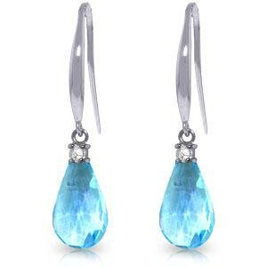 4.6 Carat 14K Solid White Gold Lose Yourself Blue Topaz