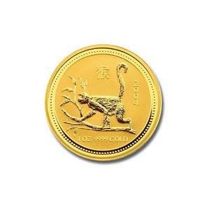 2004 Australia 1/4 oz Gold Lunar Monkey