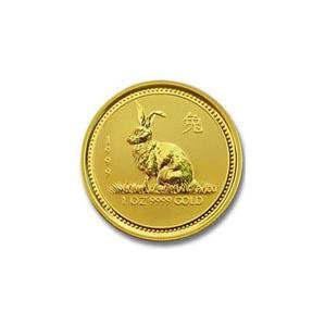 1999 Australia 1/10 oz Gold Lunar Rabbit