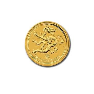 Australian Series II Lunar Gold Tenth Ounce 2012 Dragon