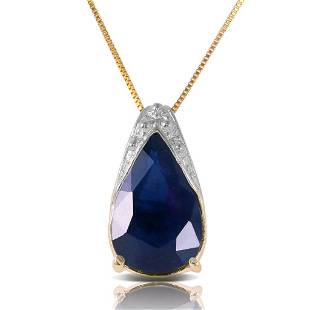 465 CTW 14K Solid Gold Never Timid Sapphire Necklace
