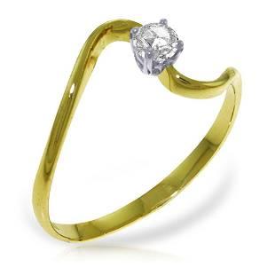 015 Carat 14K Solid Gold Memory Of Night Diamond Ring