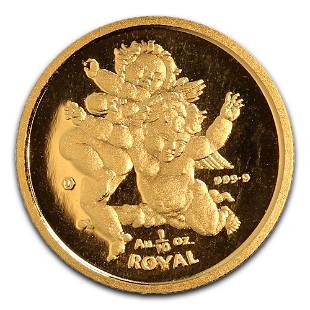 2000 Gibraltar Tenth Ounce Gold Royal Cherub