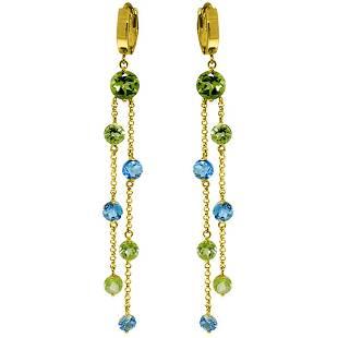 899 Carat 14K Solid Gold Chandelier Earrings Peridot B