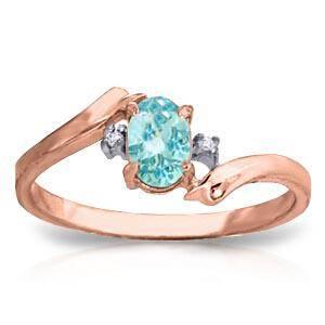 046 Carat 14K Solid Rose Gold Rings Natural Diamond Bl