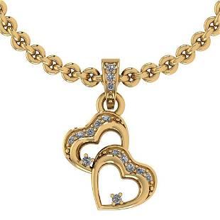 Certified 010 Ctw Diamond VSSI1 18K Yellow Gold Neckl