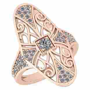 Certified 051 Ctw Diamond I1I2 Antique Style Ring 10K
