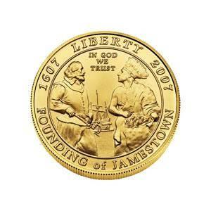 Gold 5 Commemorative 2007 Jamestown BU