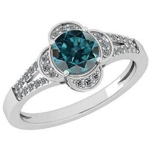 Certified 115 Ctw Treated Fancy Blue Diamond I1I2 And