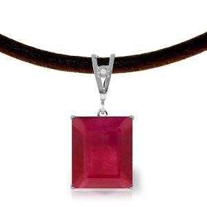 7.51 Carat 14K Solid White Gold Eyes Wide Open Ruby Dia