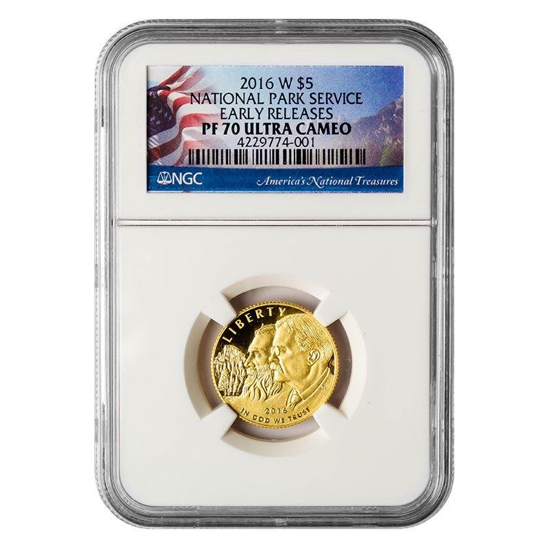 Certified Commemorative $5 Gold 2016-W National Park Se