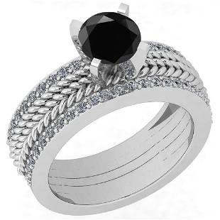 Certified 171 Ctw Treated Fancy Black Diamond SI1SI2