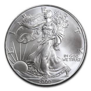2000 1 oz Silver American Eagle BU