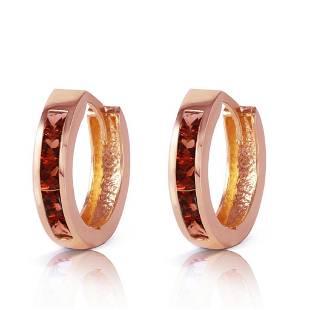 13 Carat 14K Solid Rose Gold Hoop Huggie Earrings Garn