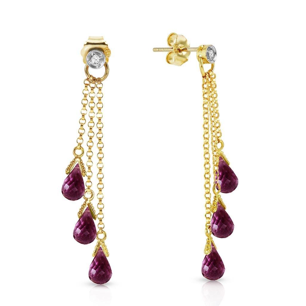10.53 CTW 14K Solid Gold Chandelier Earrings Diamond Am