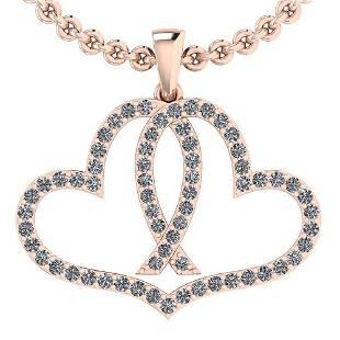 Certified 088 Ctw Diamond VSSI1 Style Heart Pave Set
