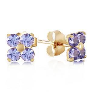 115 Carat 14K Solid Gold Stud Earrings Natural Tanzani