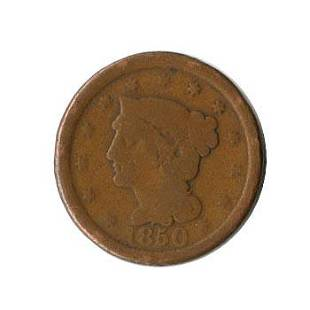 Early Type Braided Hair Large Cent 18401857 GVG