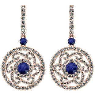 Certified 261 Ctw Blue Sapphire And Diamond VSSI1 14K