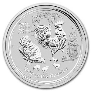 2017 Australia 1/2 oz Silver Lunar Rooster