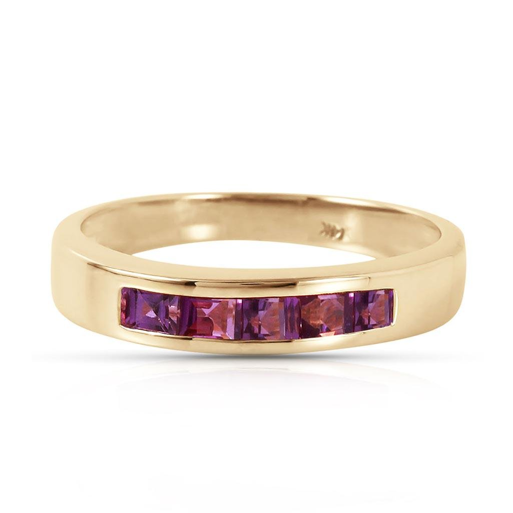 0.6 CTW 14K Solid Gold Bliss Is Found Here Amethyst Rin