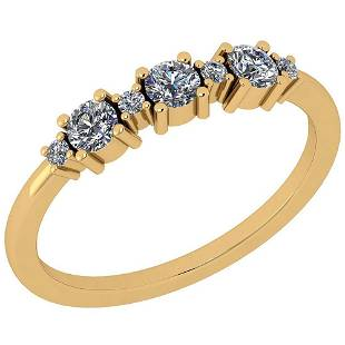 Certified 034 Ctw Diamond I1 10K Yellow Gold Ring Size