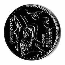 2003 1 oz Uncirculated Silver Britannia 1 oz 2003