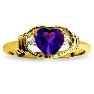 096 Carat 14K Solid Gold I Amethyst Love Amethyst Diam
