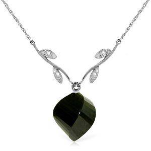 1552 Carat 14K Solid White Gold Necklace Diamond Twist