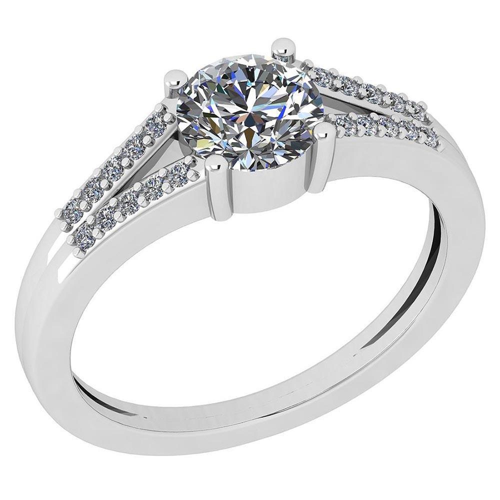 Certified 1.12 Ctw Diamond VS/SI2 18K Yellow Gold Ring