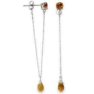 3.15 Carat 14K Solid White Gold Chandelier Earrings Cit