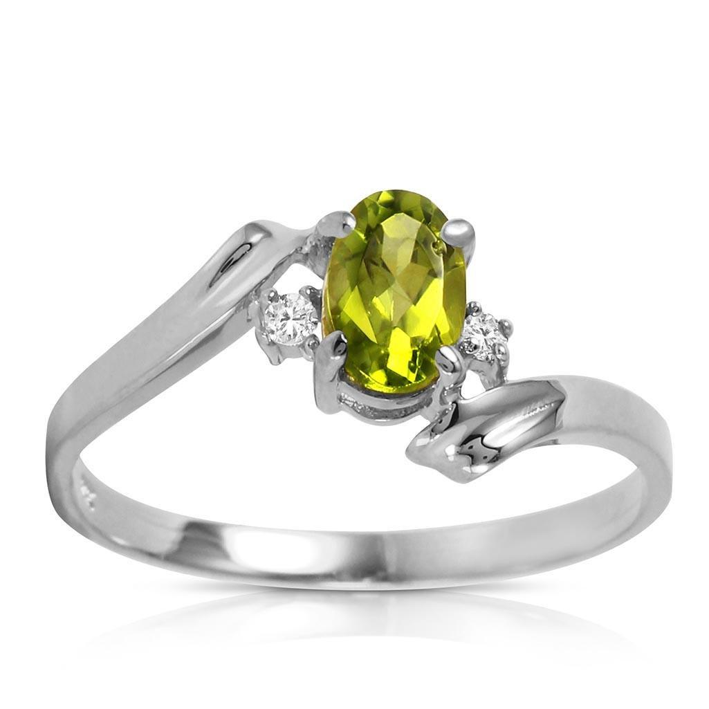 0.46 Carat 14K Solid White Gold Rings Natural Diamond P