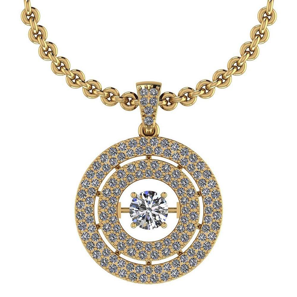 Certified 1.38 Ctw Diamond VS/SI1 18K Yellow Gold Neckl