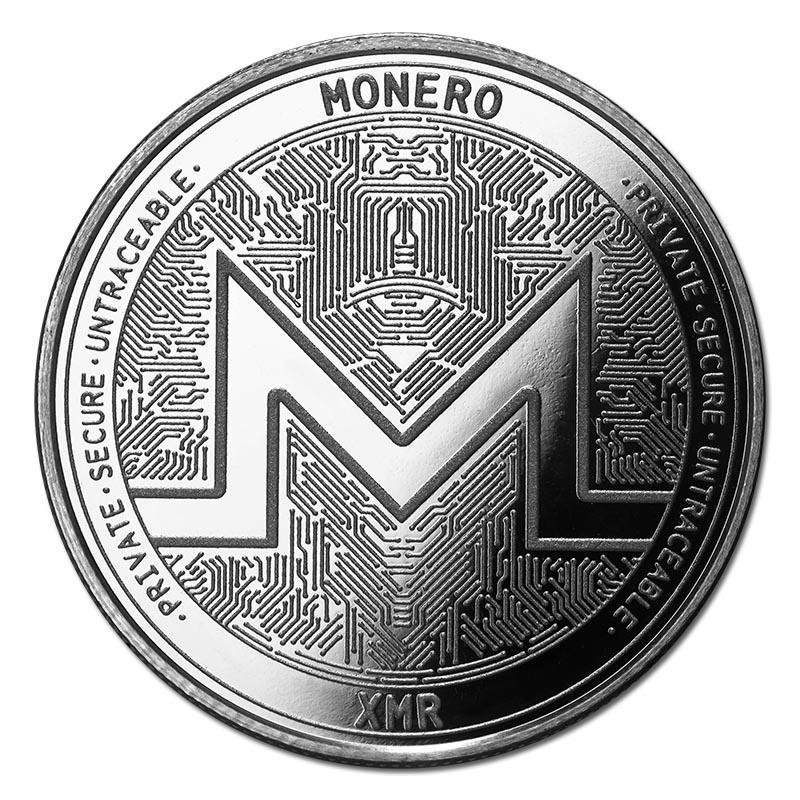 1 oz Silver Bullion Cryptocurrency Monero Round .999 fi
