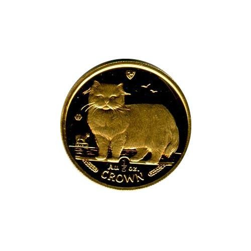 Isle of Man Gold Cat Fifth Ounce 1989