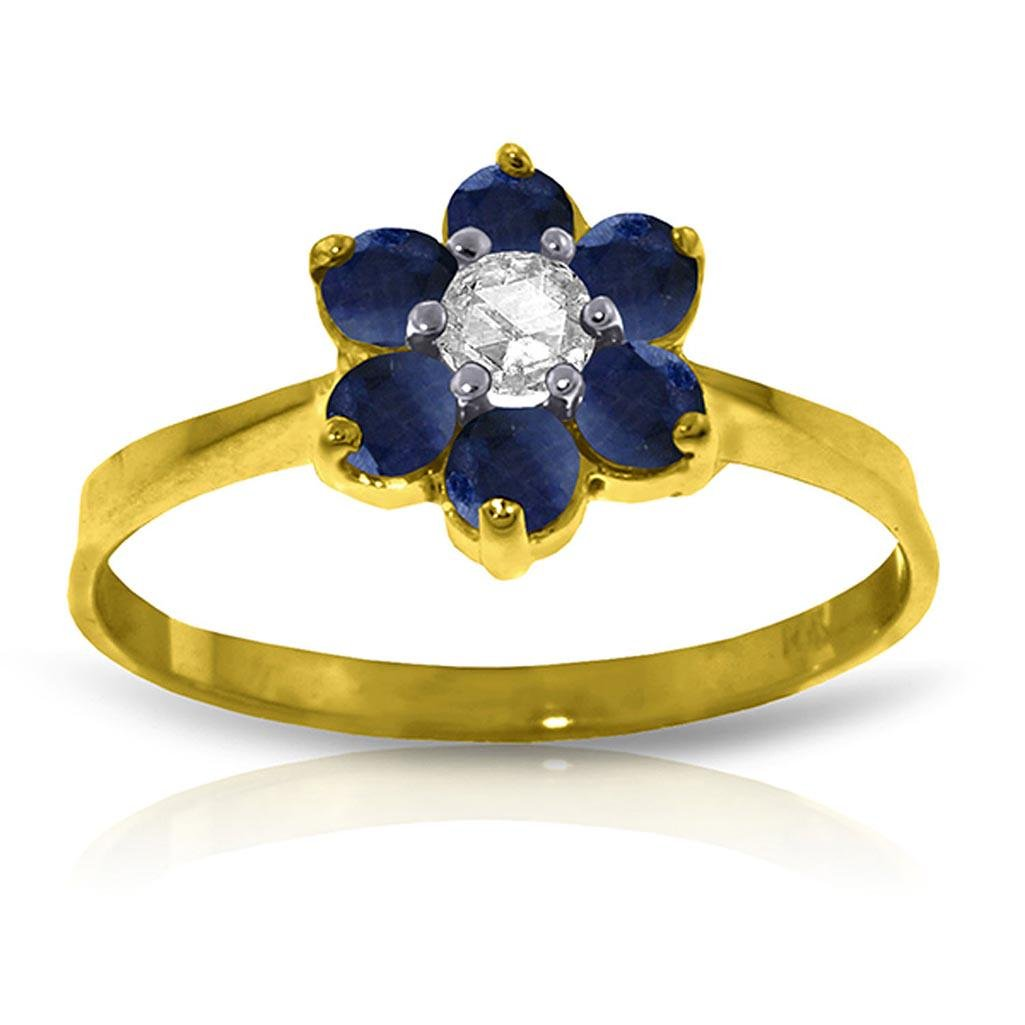 0.5 CTW 14K Solid Gold Cant Dictate Love Sapphire Diam