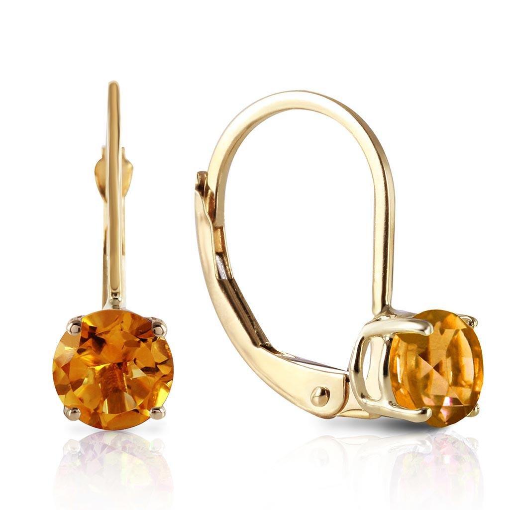 1.2 Carat 14K Solid Gold Iris Citrine Earrings