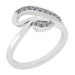 Certified 0.32 Ct Diamond I2/I3 10K White Gold Entity R
