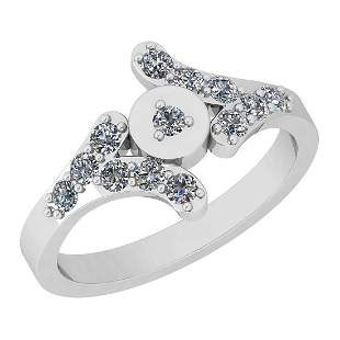 Certified 0.45 Ct Diamond I2/I3 10K White Gold Entity R