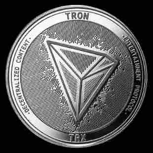 1 oz Silver Bullion Cryptocurrency Tron Round .999 fine