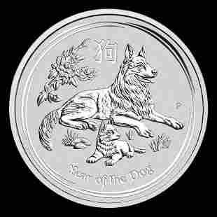 2018 Australia 1 oz Silver Lunar Dog